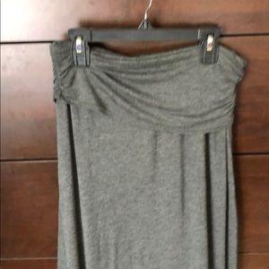 Long grey maxi skirt